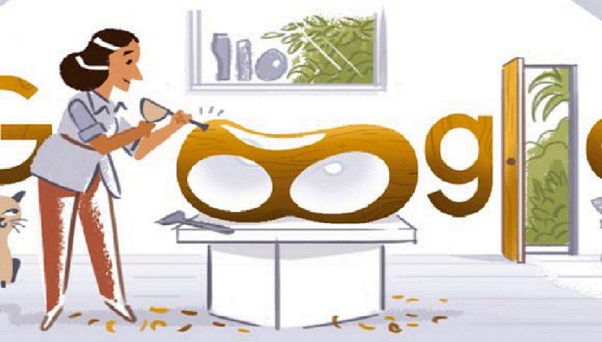 Google recuerda con un doodle a la escultora inglesa Bárbara Hepworth