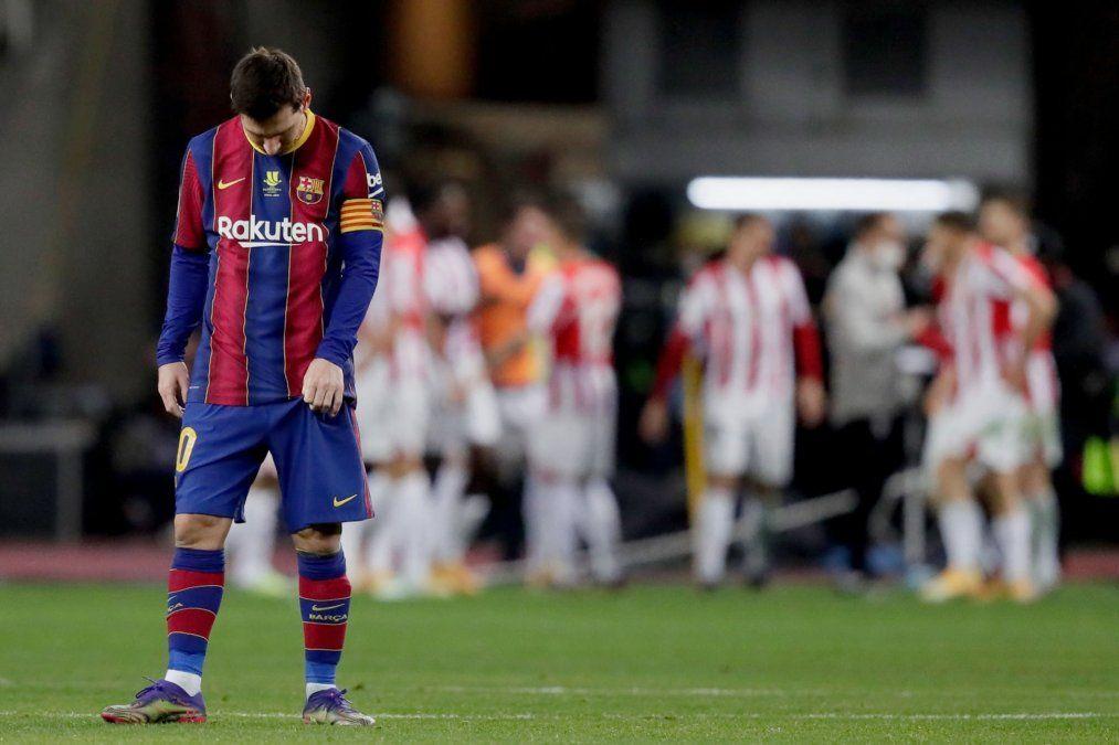 Barcelona perdió 3-2 ante Athletic Club