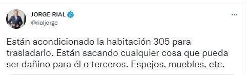 Así lo anunció Jorge Rial en Twitter.