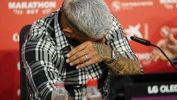 El jugador se despidió claramente emocionado a través de una conferencia de prensa del club andaluz. Seguirá su carrera en Arabia Saudita. (Foto: Prensa Sevilla FC)
