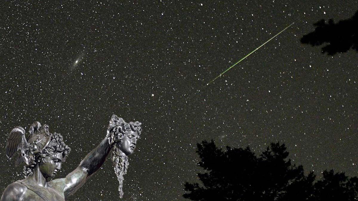 Se le llama Perseidas a la lluvia de estrellas más famosa del hemisferio norte. Es porque el radiante de los meteoros se produce en la constelación de Perseo