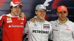 Fernando Alonso se mete en la discusión sobre qué piloto es mejor y dice que Michael Schumacher es difícil de superar, mientras que de Hamilton dice que es el mejor de su generación.