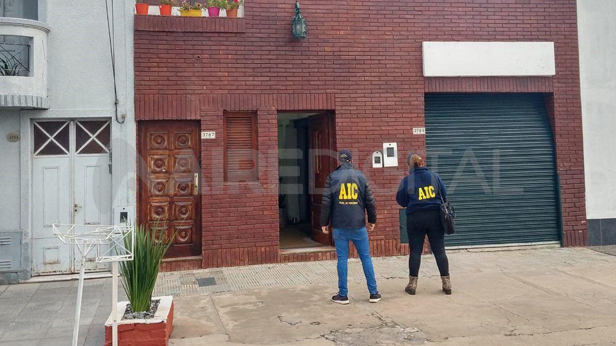 El allanamiento que tuvo lugar en la ciudad de Santa Fe y del cual participó el área de Trata de la Agencia de Investigación Criminal.