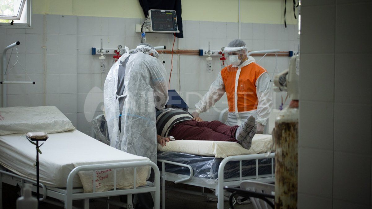 Guardia Covid del hospital Cullen