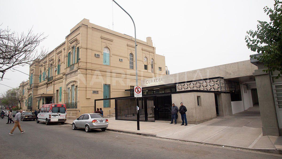 El hombre fue trasladado al Hospital José María Cullen.