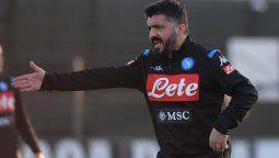 Gennaro Gattuso, entrenador del Napoli, anticipa el duelo ante Barcelona por la Champions League y dice que parar a Messi solo es posible en sueños o un PlayStation.