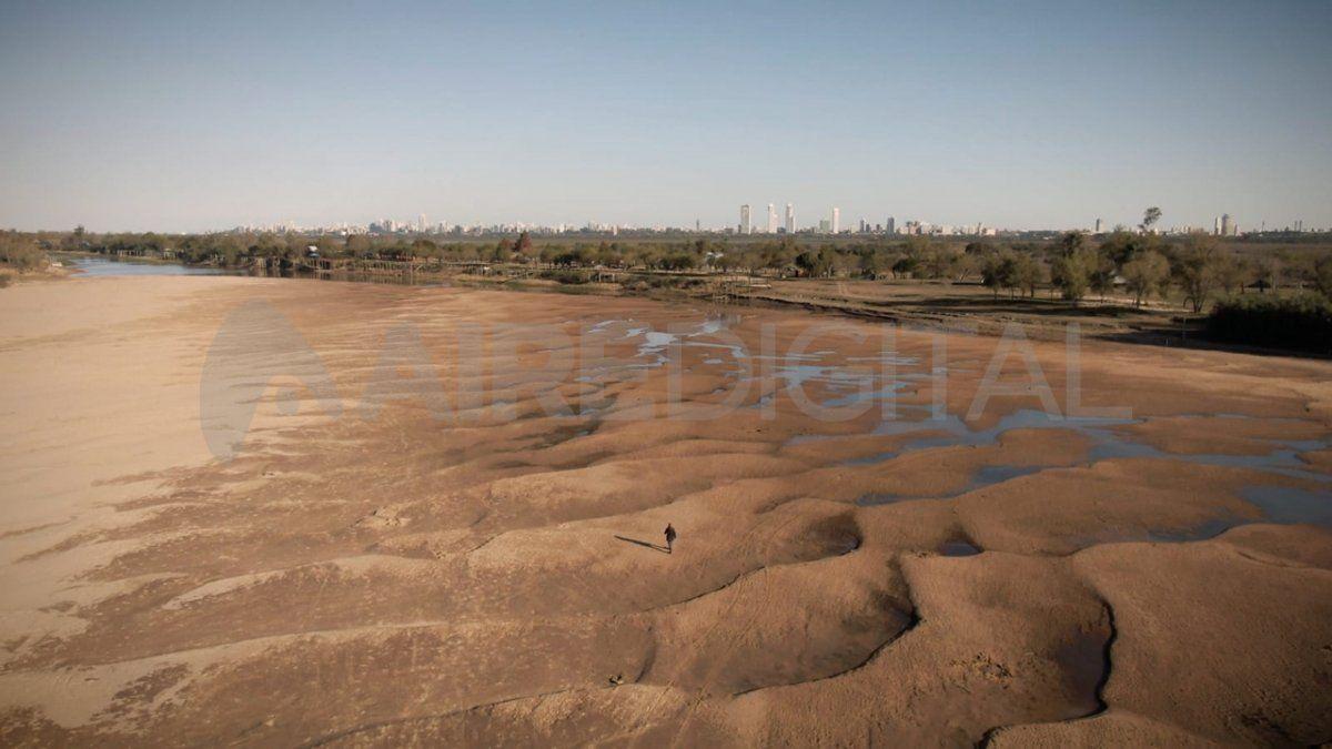Este miércoles el río Paraná midió -0