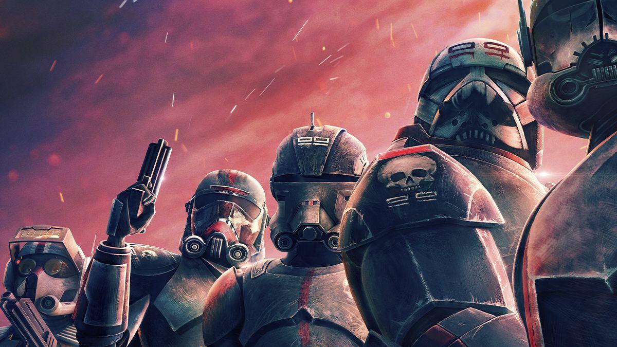 """Star Wars: The Bad Batch es una nueva serie original animada que sigue el viaje a través de la galaxia del escuadrón de clones """"Fuerza 99"""". La nueva serie debuta el martes 4 de mayo con una entrega especial de 70 minutos y tendrá nuevos episodios cada viernes a partir del 7 de mayo."""