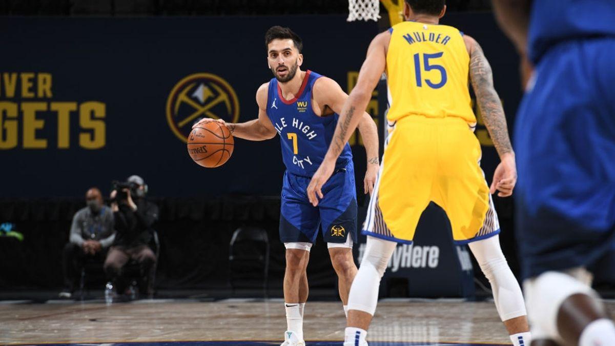 Facundo Campazzo jugó en la victoria de Denver Nuggets ante Golden State en la NBA.