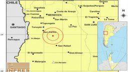 El martes a las 2:53 se produjo un leve sismo en Mendoza. Según informaciones del Inpres (Instituto de Prevención Sísmica) el movimiento telúrico tuvo una magnitud de 3.1 grados.