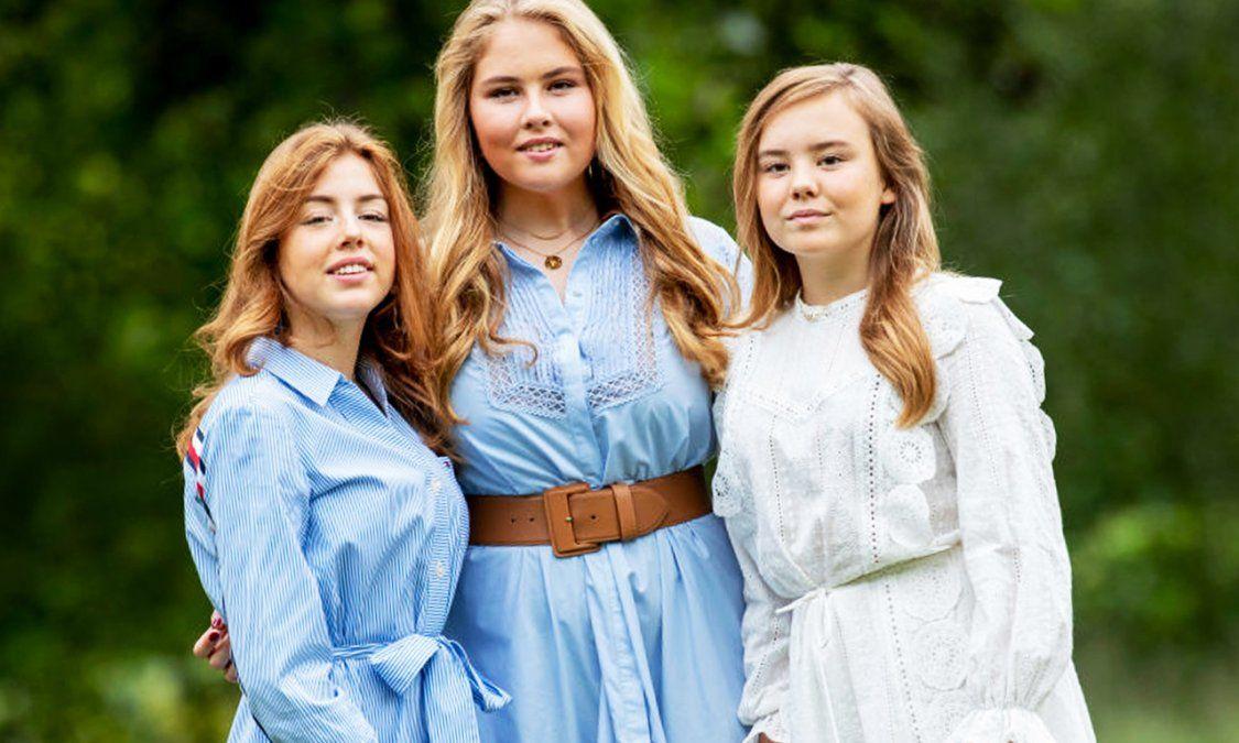 Una de las dos hijas menores de la Reina Máxima de Países Bajos