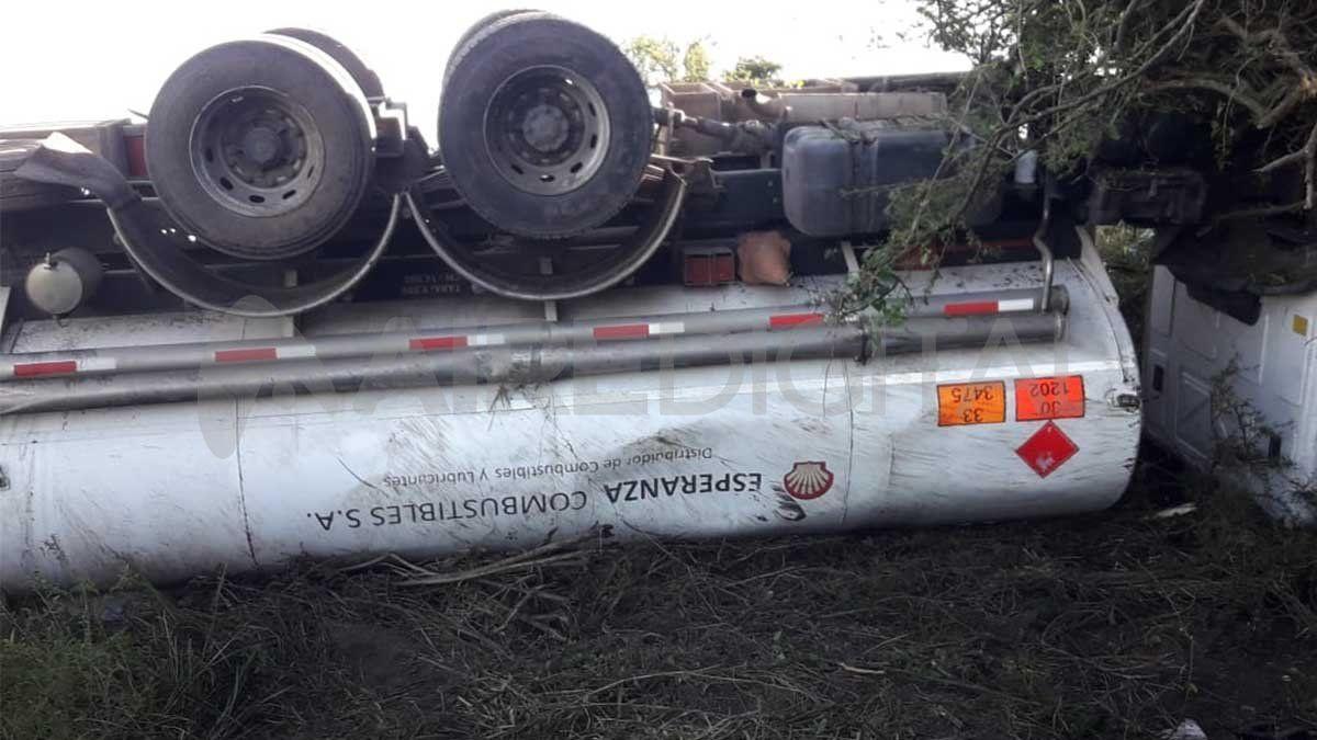 El conductor de la unidad salió ileso del accidente
