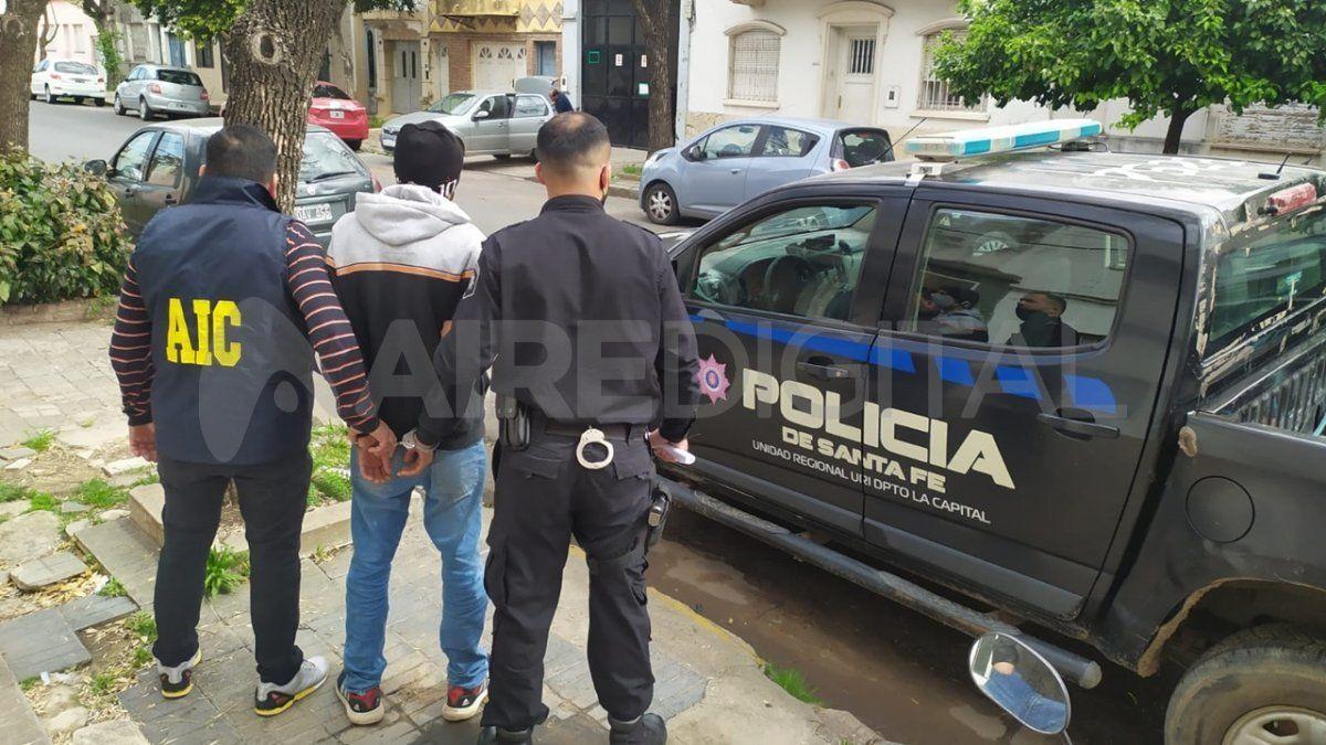 El sospechoso al momento de la detención.