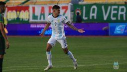 Joaquin Correa convirtió el segundo gol en la victoria argentina ante Bolivia en la altura de La Paz.