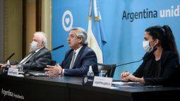 Para los anuncios, Alberto Fernández estuvo acompañado por el ministro de Salud, Ginés González García, y por la directora Ejecutiva de PAMI, Luana Volnovich.