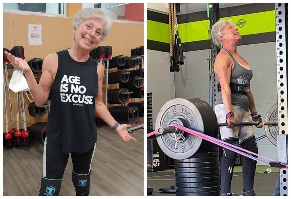 María Duffy ganó premios por su levantamiento de pesas.