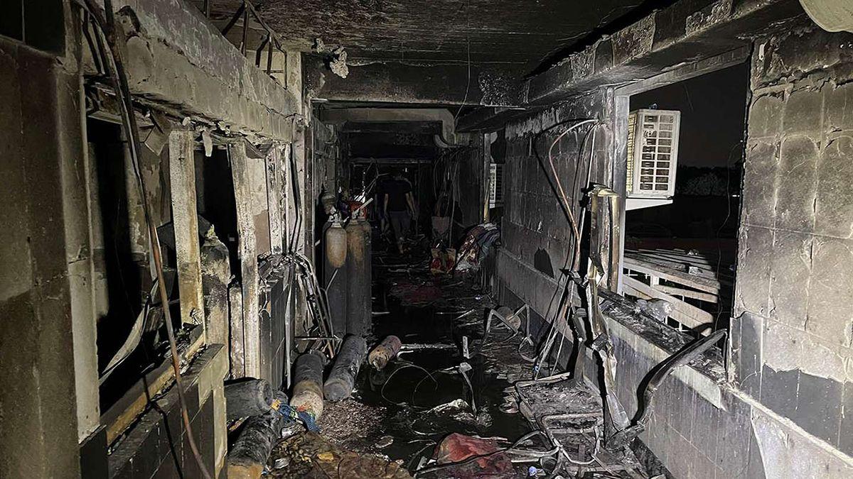 80 personas murieran en un incendio en un hospital de Bagdad iniciado en una sala de terapia intensiva en la que se atendía a pacientes de coronavirus.