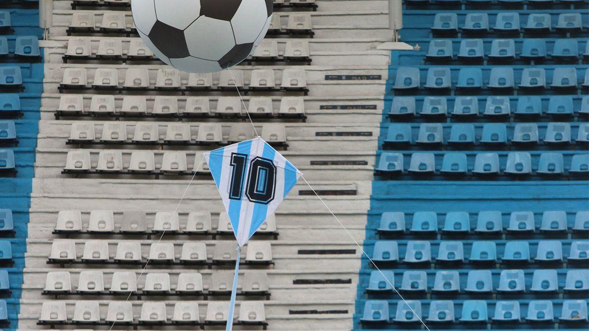 Antes del Racing-Unión por la Copa Diego Maradona