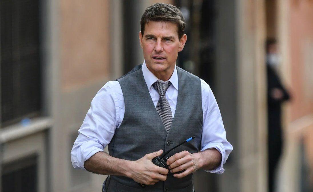 Tom Cruise apareció en el centro de Roma para grabar Misión Imposible 7