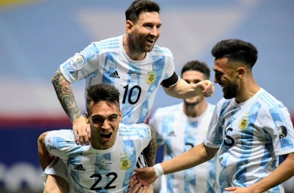 Lionel Messi demostró su alegría por la clasificación de la Selección Argentina a la final de la Copa América.