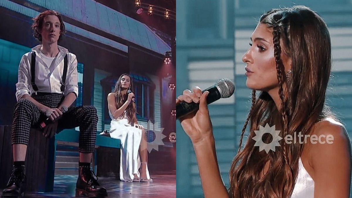 Lola Latorre yLucas Spadafora en el Cantando 2020