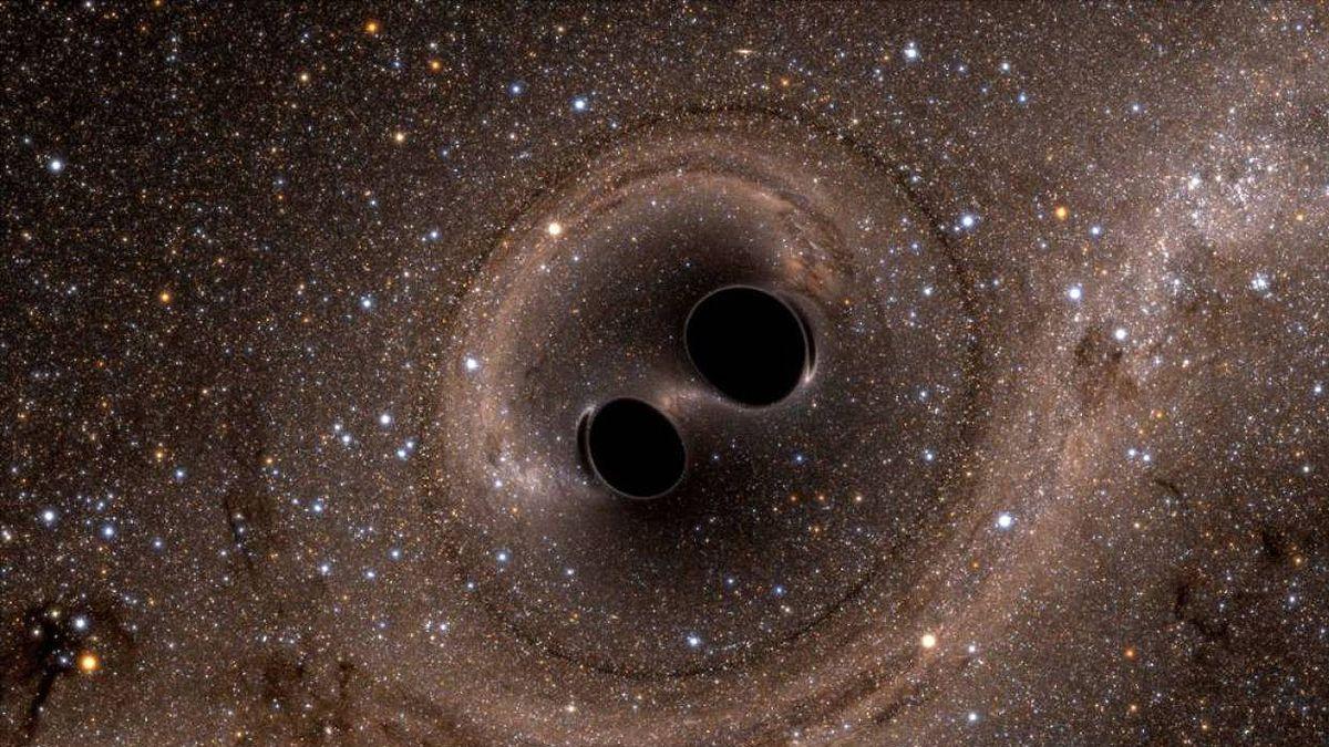 Detectan la mayoronda gravitacionalhasta el momento procedente de lafusión de dos agujeros negros.