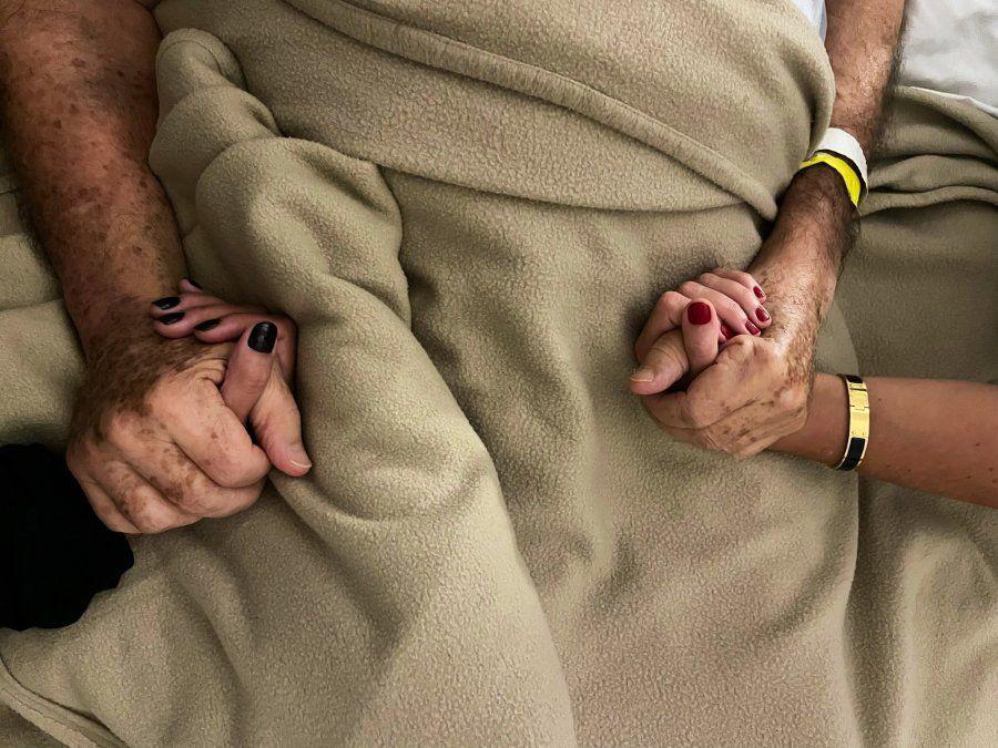 La foto que publicó Cora Reutemann junto a su padre este miércoles a la madrugada.