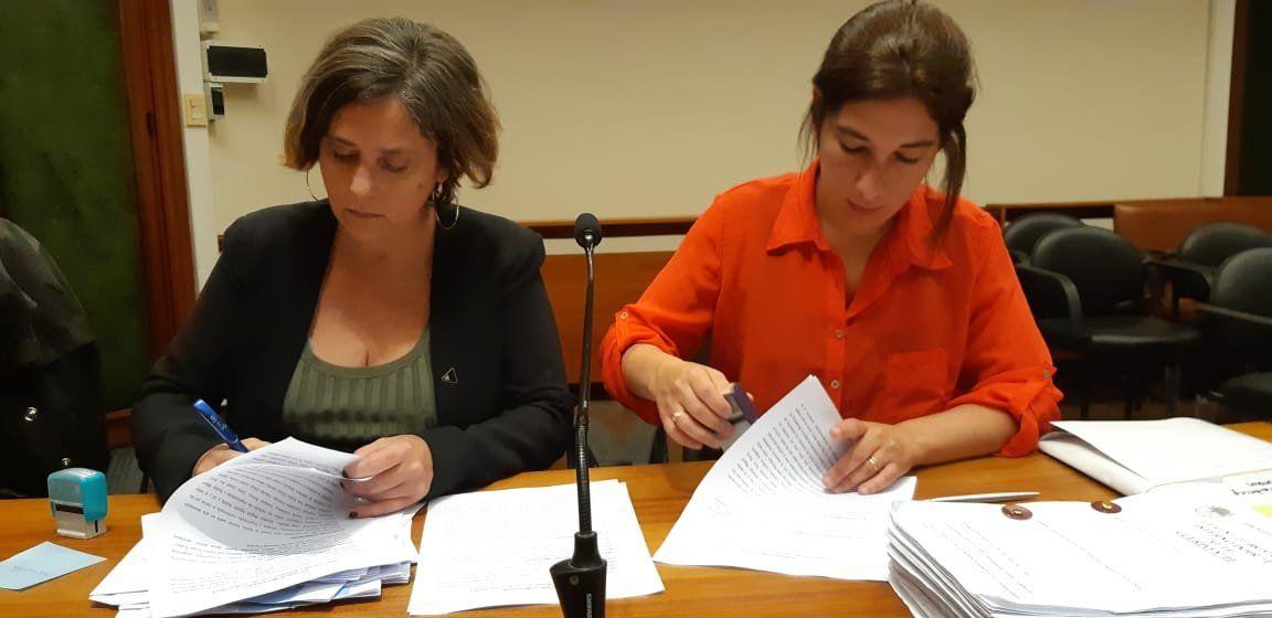 Mariela Jimenez y Laura Urquiza, fiscales de la Unidad de Delitos Complejos