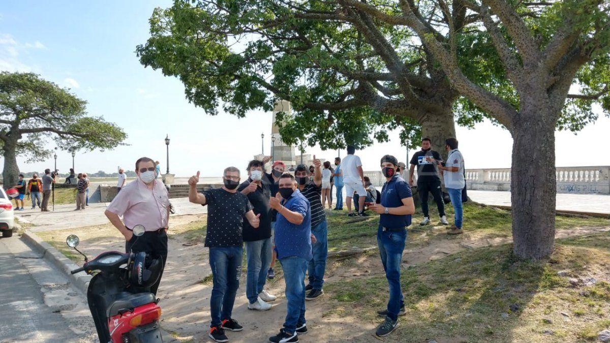 La movilización de los músicos partió desde El Faro de la costanera