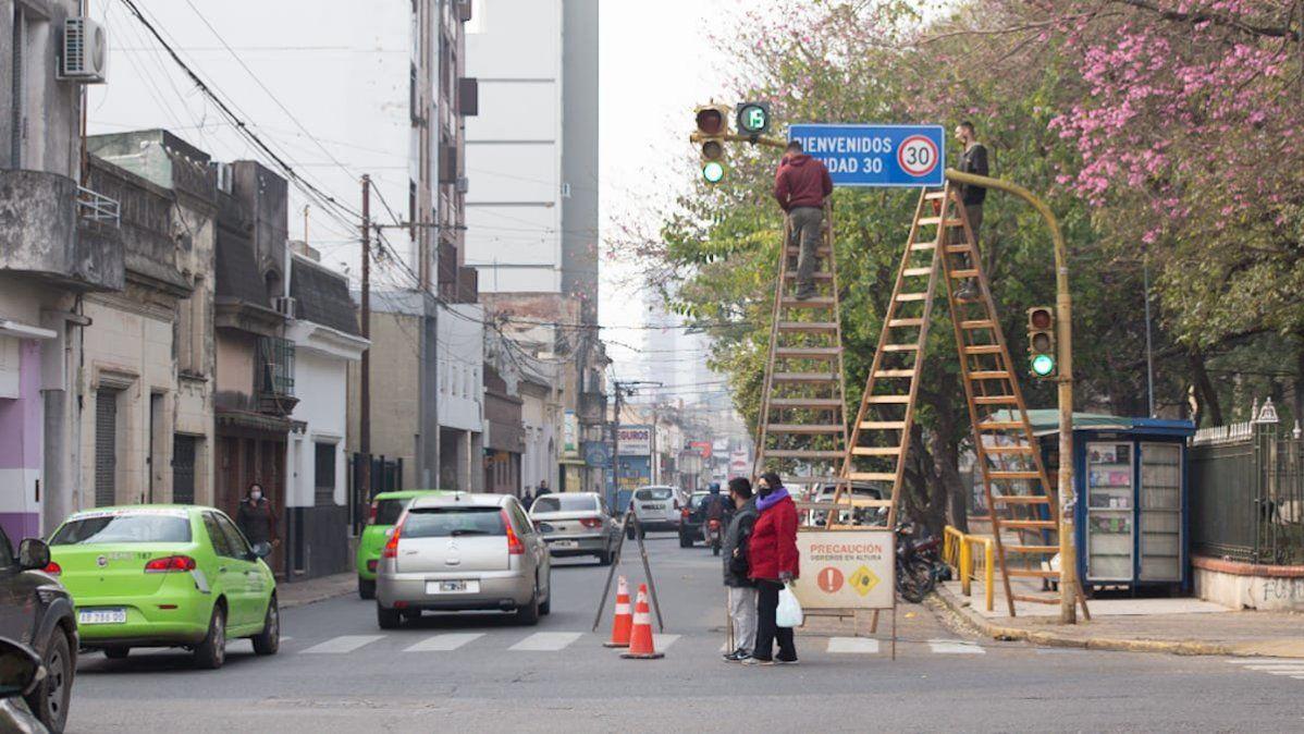 Santa Fe ya tiene sus carteles de Ciudad 30.